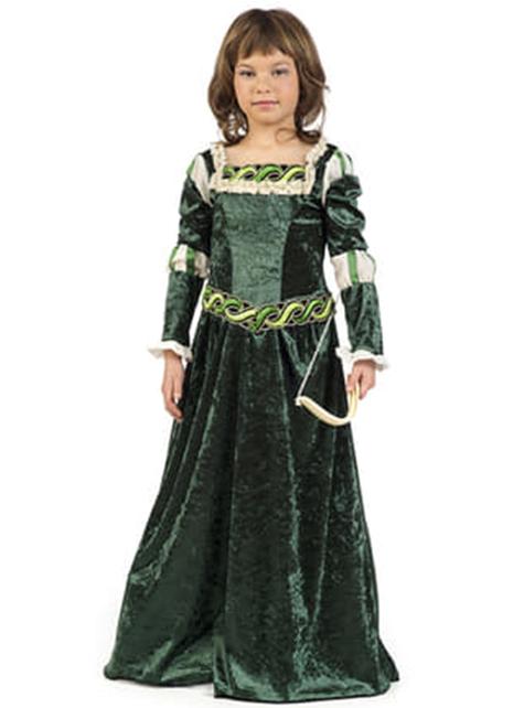 Fato de arqueira medieval para menina