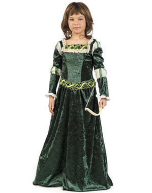Костюм середньовічного лучника для дівчаток