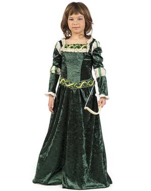 Mittelalterliches Bogenschützin Kostüm für Mädchen