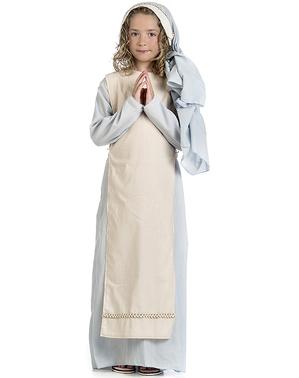 Fato de Virgem Maria bondosa para menina