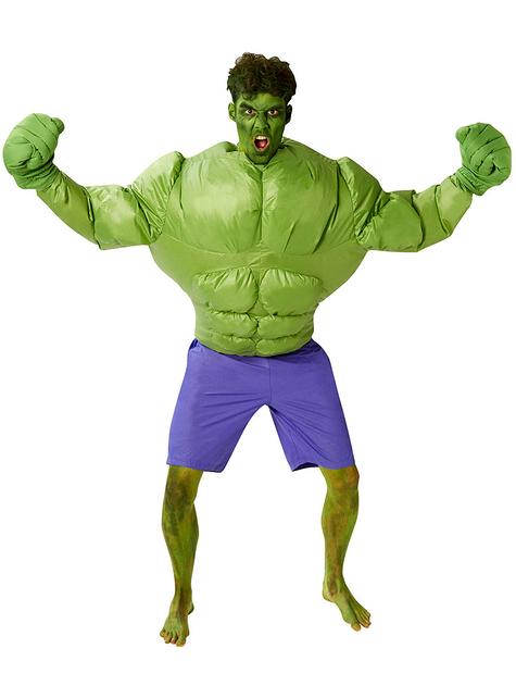 Fato insuflável de Hulk para homem - Marvel