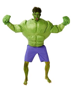 Oppusteligt hulk kostume til mænd - Marvel