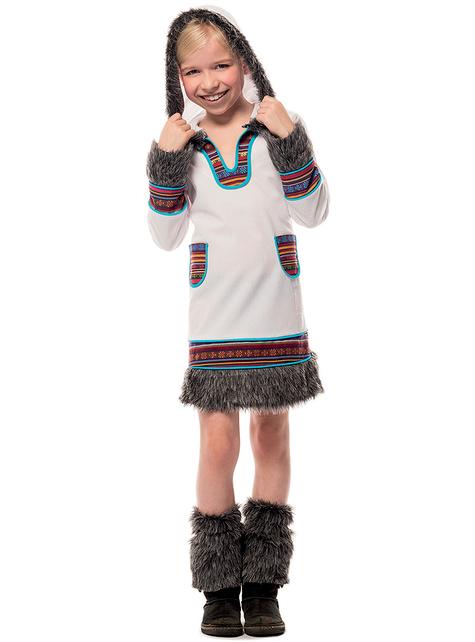 White eskimo costume for girls