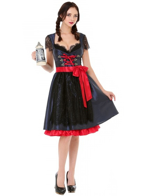 אוקטוברפסט סילוויה אלגנטי עבור נשים בשחור & אדום