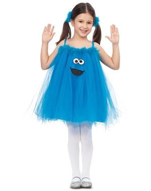 Disfraz de Monstruo de las galletas Barrio Sésamo para niña