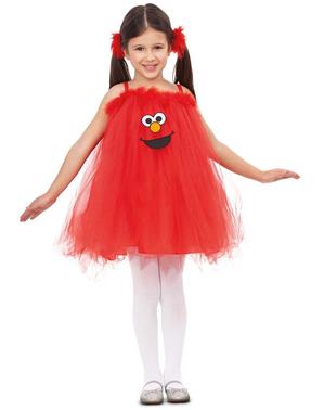 Disfraz de Elmo Barrio Sésamo para niña