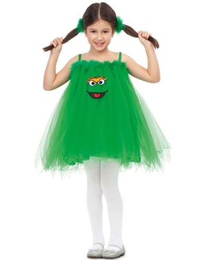 Costume Oscar il Brontolone Sesame Street per bambina
