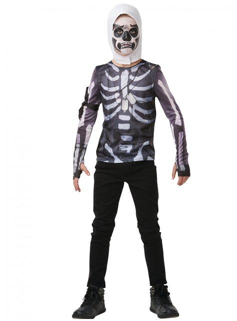 T-shirt Fortnite Skull Trooper adolescente