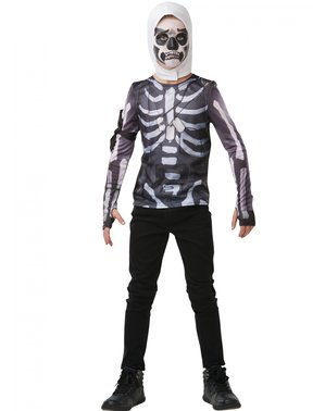 Tricou Fortnite Skull Trooper pentru adolescenți