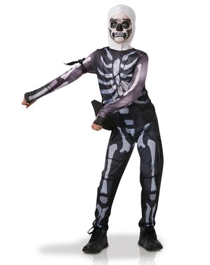 Fortnite Skull Trooper kostume til teenagere
