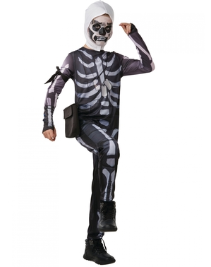 Fato de Fortnite Skull Trooper para adolescente