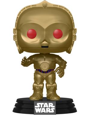 FUNKO POP! C-3PO s červenými očami (hematit chrómovaná) - Star Wars: The Rise of Skywalker