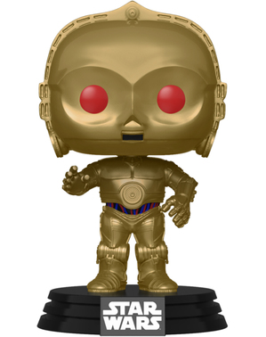 Funko POP! C3PO עם עיניים אדומות (גימור כרום המטיט) - Star Wars: The Rise of סקייווקר
