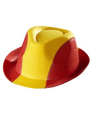Klobouk pro dospělé španělské barvy