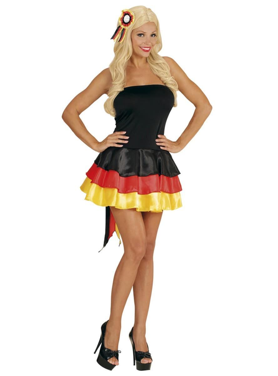 deutschland cheerleader kleid f r damen f r kost m funidelia. Black Bedroom Furniture Sets. Home Design Ideas