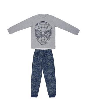 Hämähäkkimies pyjamat pojille sinisenä ja harmaana - Marvel