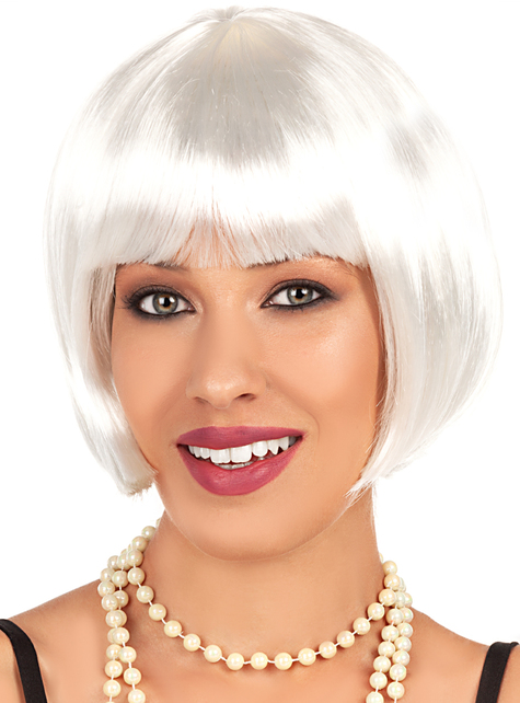 1920s white wig