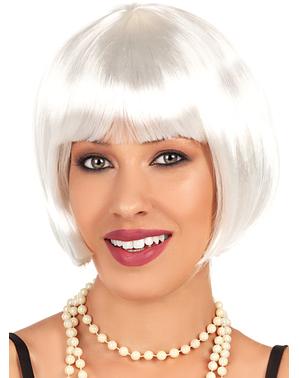 Peluca blanca años 20