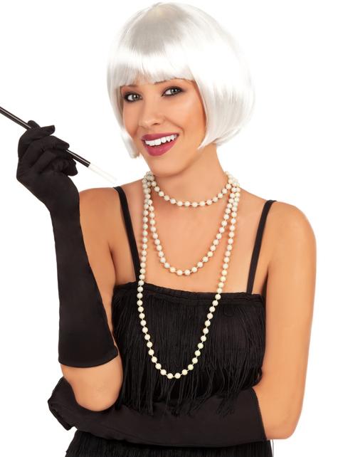 1920'er hvid paryk - til dit kostume