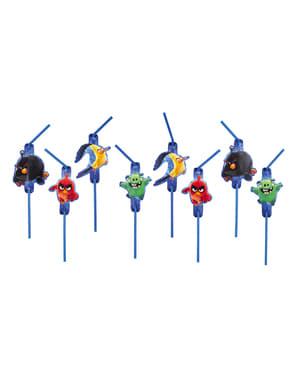 Set 8 rietjes Angry Birds