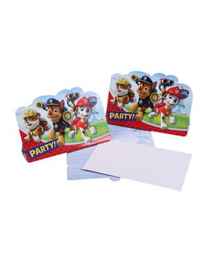 Paw Patrol Einladungskarten Set 8 Stück