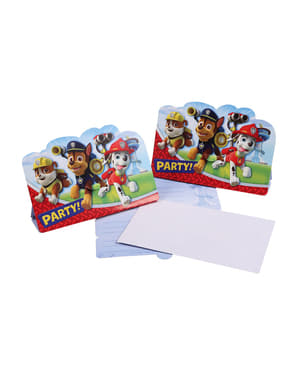 Set de 8 invitations Pat'Patrouille