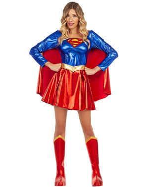 Fato de Supergirl para mulher tamanho grande