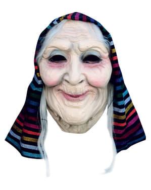 Halloweenská maska stařenka