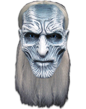 Mask White walker med hår Game of Thrones för vuxen