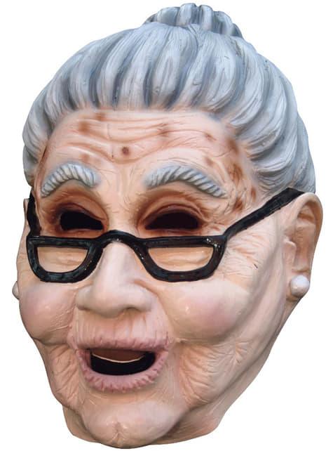 Máscara de idosa
