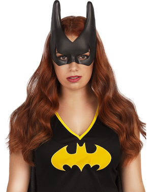 Máscara de Batgirl para mulher