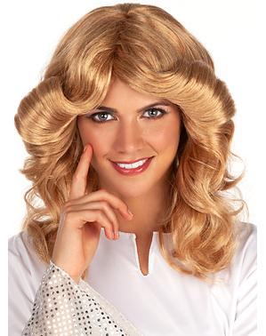 Jaren 70 blonde pruik