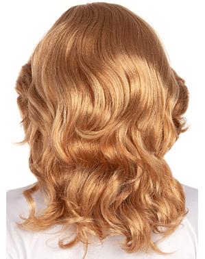 Perruque blonde années 70