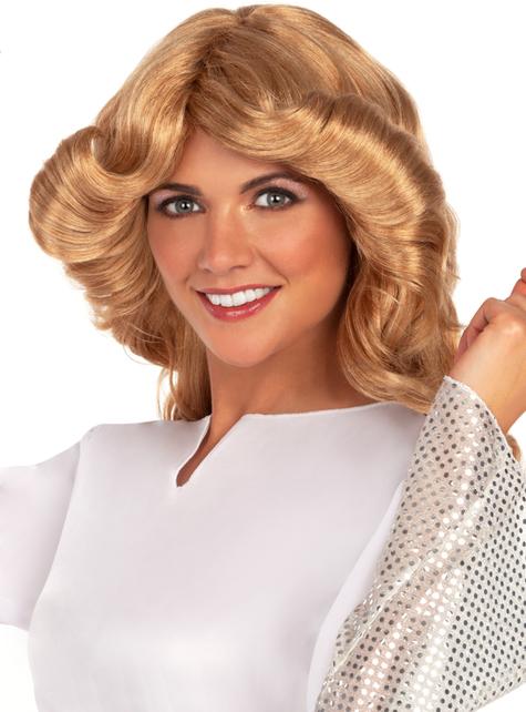 Peruka blond lata 70 - oryginalny