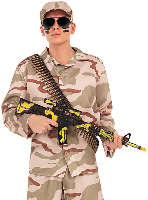 Maschinenpistole in Tarnfarben - für dein Kostüm