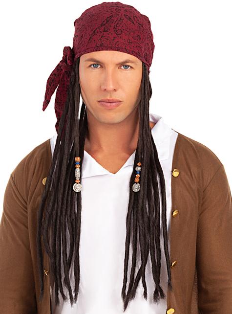 Peluca con pañuelo pirata