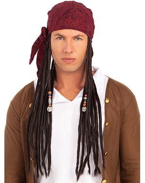Perruque avec bandana de pirata