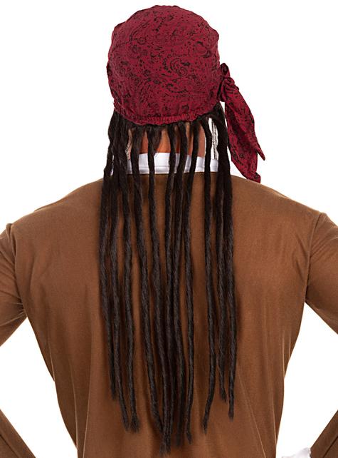 Peruka z apaszką pirata - do Twojego kostiumu