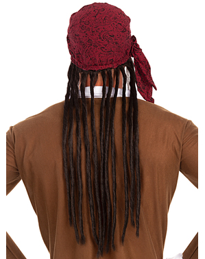 Pirate wig with scarf