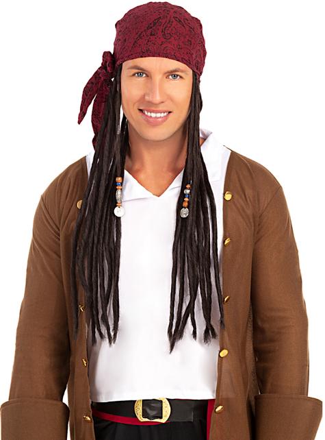 Peruka z apaszką pirata - oryginalny
