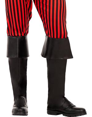 Čierne návleky na topánky