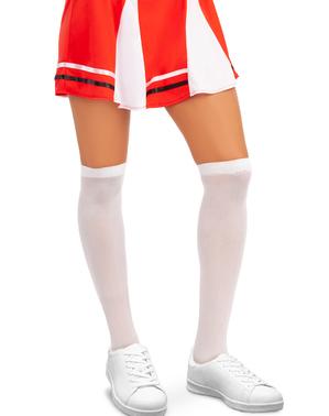 Hvite høye sokker
