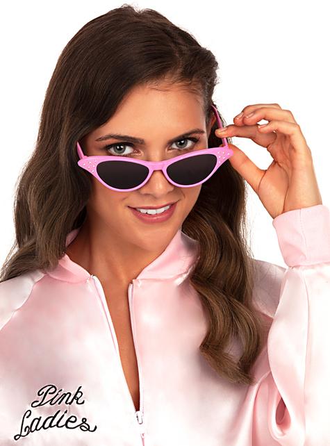 Women/'s Grease 1950/'s Fancy Dress Pink Lady Glasses Sunglasses Hen Theme Fun Do