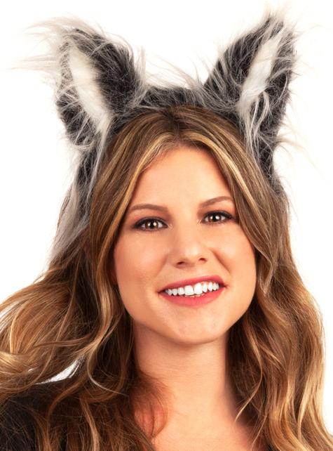 Cerchietto con orecchie di lupo. Consegna 24h | Funidelia