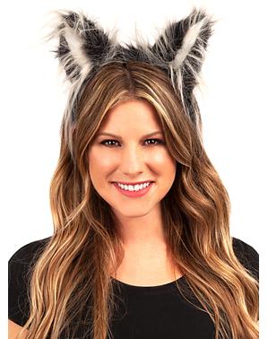 Opaska na głowę z uszami wilka