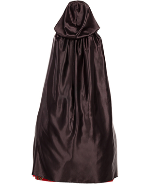 Črna Satin Hooded Cape