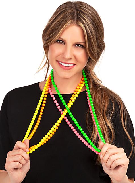 Naszyjniki neonowe perły - do Twojego kostiumu