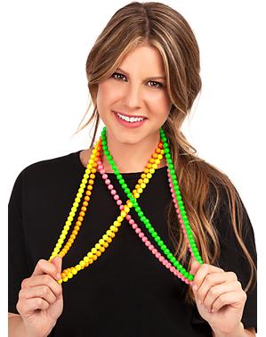Perlenketten in Neonfarben