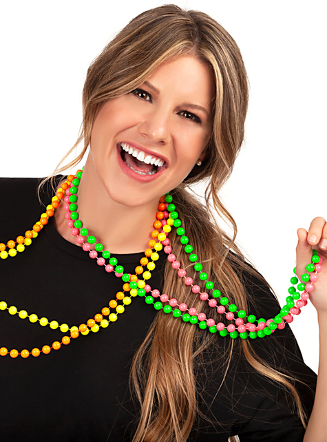 Neon beads necklaces - funny