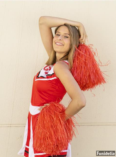 Fato de cheerleader tamanho grande - Halloween